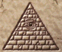 Pyramid With All Knowing All Seeing Eye Blazing - Ancient Future Earth Star Wisdom