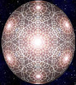 Holographic Sphere Overlaid with Flower of Life Matrix & Grids