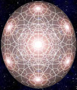 Holographic Sphere Overlaid With Metatrons Cube